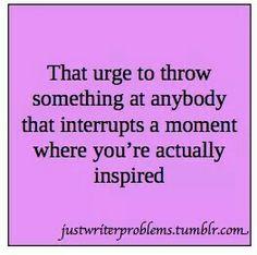 That urge.