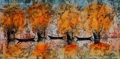 Michel RAUSCHER | Peintures - Huile sur toile - 100x100- 2015 L'éléphant de…
