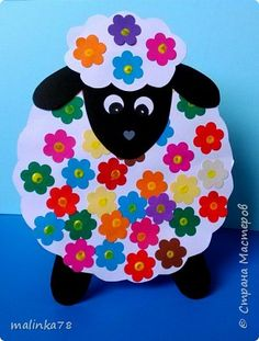 "Ojos bellos, controlate cada año: Lee en nuestro blog ""sindrome de vision computarizada"" y otros... Sheep Crafts, Farm Crafts, Crafts To Do, Arts And Crafts, Easter Projects, Easter Crafts For Kids, Marker Crafts, Paper Plate Crafts, Sunday School Crafts"