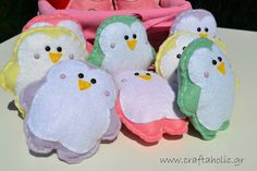 Felt penguin felt Christmas ornaments Christmas by CraftaholicShop