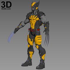 Printable Model: X-Men Variant Play Arts Kai Logan Wolverine Full Body Armor Suit and Helmet (SQU Marvel Comic Universe, Marvel Comics Art, Marvel Heroes, Wolverine Art, Logan Wolverine, Cosplay Armor, Marvel Cosplay, Suit Of Armor, Body Armor