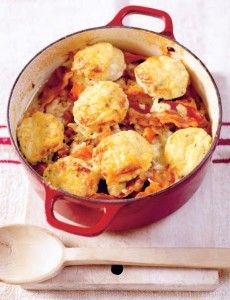 Chicken casserole with cheesy herb dumplings from Rachel's Irish Family Food: 120 Classic Recipes from My Home to Yours by Rachel Allen