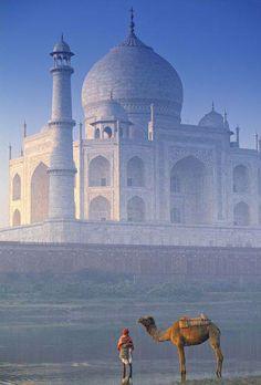 el Maravilloso Taj Mahal, ubicado en Agra, India #Viajes