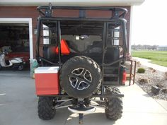 2015 POLARIS RANGER 900xp with Roll Cage, Accessory Rack, Aluminum Powder Coat Roof, Safari Rack, Fold up Jump-seats, Full Swing-out Tailgate, Spare Tire Mount, Hi-Lift UTV Jack mount.  #polarisranger #rollcage #safarirack #jumpseat  Call Darren for more information and pricing 801-865-7647