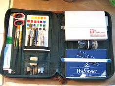 Travel Watercolor Kit- maybe I should make a separate card for my swatches