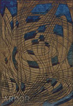 col. Contemporary /GAIT Dark gold / blue