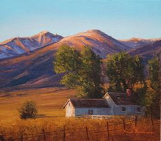 SOLD I Sangre Homestead I 7x8 I Dix Baines I Fine Artist Original Oil Paintings I Mountains I Sangre de Cristo Mountains I Colorado I www.dixbaines.com