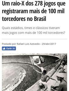 O @Verminosos fez um raio-x dos 278 jogos com mais de 100 mil torcedores no Brasil. Flamengo domina. SRN.