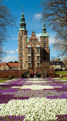 Rosenborg Castle in the heart of Copenhagen, Denmark.  The castle was built by one of the most famous Scandinavian kings, Christian IV, in the early 17th century.  The crowns of the Danish kings and queens are kept in special vaults and are embellished with table-cut stones, enamel and gold ornamentation.