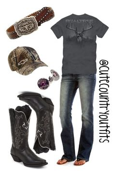 """""""Realtree"""" by justagirlfromthesouth ❤ liked on Polyvore featuring Realtree, Bullet and Justin"""