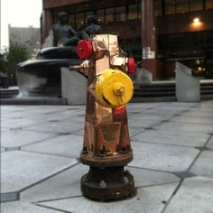 Copper fire hydrant. Downtown San Diego