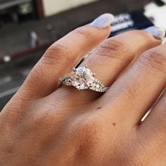 Isn't she brilliant? Design your own gorgeous engagement ring with us! Email us: http://stores.ebay.com/SageDesignsLA/Contact-Us.html