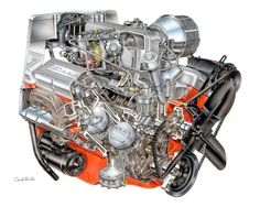 Old style Small Block Chevy Cutaway