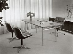 Knoll Designer Charles Pollock Executive conference chair history