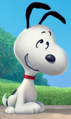"""Snoopy Close-up - And in case you want to obsess over Snoopy's soft-white fur, because according to Craig, the CG """"brings you closer into the comic strip,"""" here he is in super-detail."""