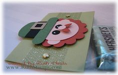st pats day leprechaun candy tag or could change into a card-punch art