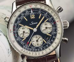 Sinn 903 St B E Navigations-Chronograph Big Watches, Luxury Watches, Cool Watches, Watches For Men, Patek Philippe, Sinn Watch, Rolex, Junghans, Breitling Navitimer