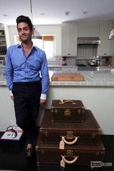 How much Louis luggage can one #MDLLA shark have? Click through to go inside Josh Flagg's amazing home and closet! Josh Flagg Rodeo Realty, Inc., Beverly Hills