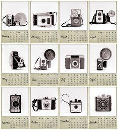 2013 Calendar Vintage Camera Calendar by ShadetreePhotography, $25.00