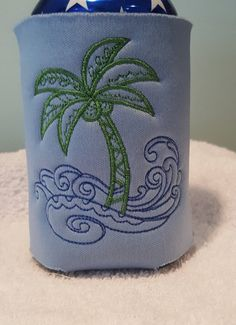 Palm Tree Machine Embroidered Personalized  by CjsAStitchinTime