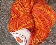 FireSeries 1 - handgefärbte Sockenwolle von HerzKönigin auf DaWanda.com