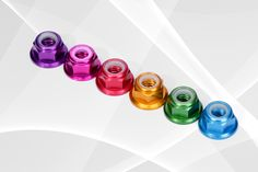 Colorful M5 lock nut with alloy materail, 0.59g/pc light weight, blue/green/pink/red/purple/gold for selection