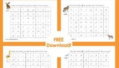 Free Printable: Arabic Alphabet Mazes (ف to ك)