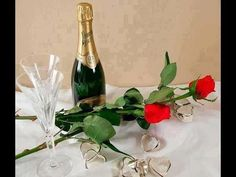 Wine Bottle Images, Champagne Images, Flower Power, Red Roses, Calendar, Happy Birthday, Youtube, Crafts, Google