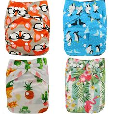 Ohbabyka Baby Cloth Diapers Reusable Nappies Character Unisex Baby Care Pants Wa… – Baby Care Tips Reusable Diapers, Cloth Diapers, Baby Shower Diapers, Baby Shower Gifts, Baby Toys, Stylish Baby Clothes, Babies Clothes, Baby Care Tips