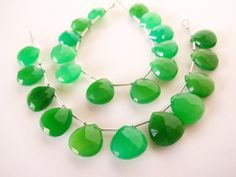 Green Chalcedony Faceted Heart