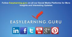 Follow Easylearning.guru on all our Social Media Platforms for more insights and interesting updates.   Click on below links:   Facebook: https://www.facebook.com/Easylearning.guru  YouTube: https://www.youtube.com/user/easylearningguru  Google Plus: https://plus.google.com/u/0/b/112145106629165659518/+EasylearningGuruOfficialpage/posts  LinkedIn: https://www.linkedin.com/company/easylearning  Twitter: https://twitter.com/easylearninguru  Pinterest: https://www.pinterest.com/easylearninguru/