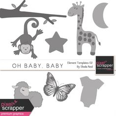 Oh Baby, Baby Element Templates 02 Kit