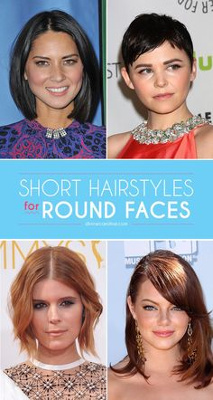 """Uneven bangs like Maggie Gyllenhaal's are a flattering alternative to long side-swept bangs. """"Depending on the texture, adding some wispy, asymmetric bangs will elongate and distract from the roundness,"""" Vosper says. Maggie's do the trick beautifully."""