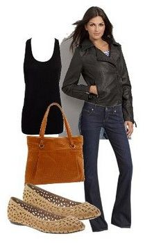 Like outfit and bag minus the shoes, need to wear with heels/platforms or wedges.