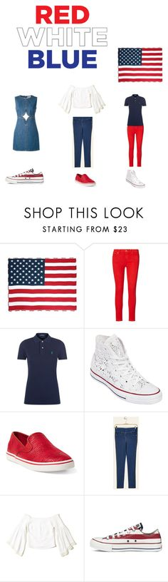 """4th july"" by effyswanhaze ❤ liked on Polyvore featuring Ralph Lauren, Polo Ralph Lauren, Converse, Hollister Co. and Courrèges"