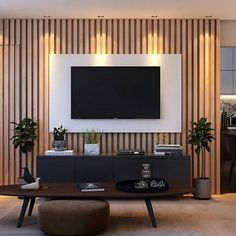 Living room tv wall decor apartments cabinets 54 new ideas Living Room Decor Tv, Living Room Tv Unit Designs, Tv Wall Decor, Living Room Interior, Home Living Room, Bedroom Tv Unit Design, Tv Stand Modern Design, Tv Stand Designs, Modern Tv Wall Units