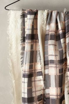 ON SALE #AnthroFave - Patchworked Plaid Scarf - anthropologie.com