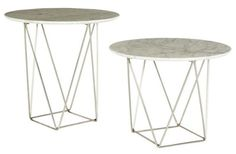 Como Marble Side Tables, Side Tables