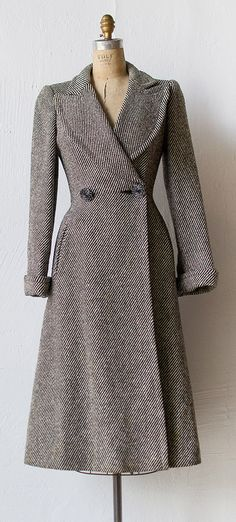 vintage 1940s princess coat by Adored Vintage