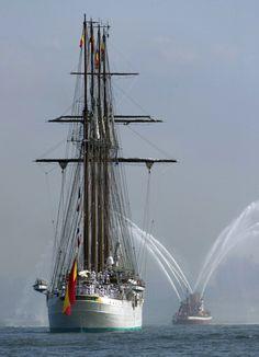 The tall ship from Spain, Elcano Ship - School of the Spanish Army.