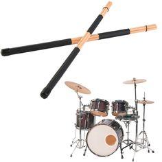 1 Paar 40 cm Houten Hot Staven Rute Jazz Drumstokken Drumsticks Draagbare lichtgewicht Hoge Kwaliteit Gratis Verzending