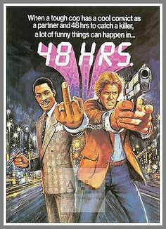 48 hours  #1980's #movie #posters classic cinema ,  View more on the LINK: http://www.zeppy.io/product/gb/2/322149293886/