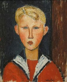 The Blue-eyed Boy by Modigliani, San Diego Museum of Art. This painting has always reminded me of my late husband as a boy.