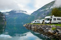 Odell Lake located in high cascades of Klamath county Oregon...Beautiful view for trailer camping.