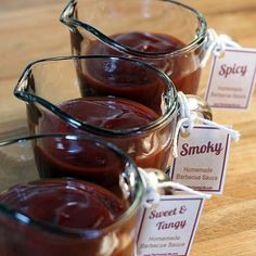 3 Barbecue Sauce Recipes - Sweet, Spicy, & Smoky - Quick, easy and great for canning - makes a great gift, too!