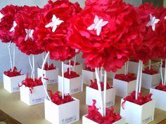 topiarios de papel - Buscar con Google Ideas Para Fiestas, Happy B Day, Origami, Favors, Butterfly, Ideas Fáciles, Google, Models, Paper Envelopes