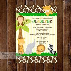 Safari baby shower invitation jungle invitations wild baby shower safari baby shower invitation jungle invitations wild baby shower baby boy safari party monkey lion diy printable invite pdf by sassygraphicsdesi filmwisefo Choice Image