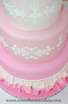 Ballerina Cake.  Looks like I'm putting a cricut on my Christmas list this year!