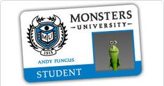 """New fun """"official school site"""" for Monsters University (to go along with the upcoming June release of the movie)!"""