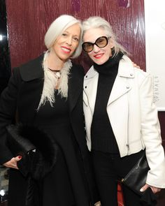 Life Goals. Linda Fargo and Linda Rodin.  Donald Robertson Fashion Is Nuts Launch Hosted by Joe Zee, Serge Normant, Linda Fargo, and Peter Davis on 2/18/15   - ELLE.com